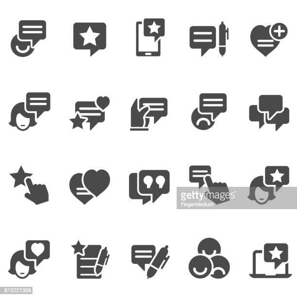 Testimonial icon set