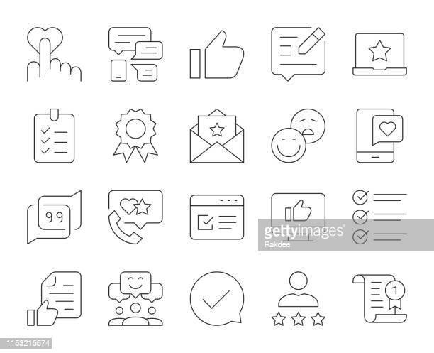 stockillustraties, clipart, cartoons en iconen met getuigenis-dunne lijn iconen - klagen