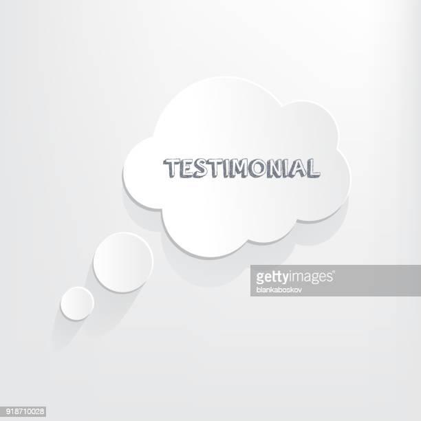 testimonial thought bubble - testimonial stock illustrations, clip art, cartoons, & icons