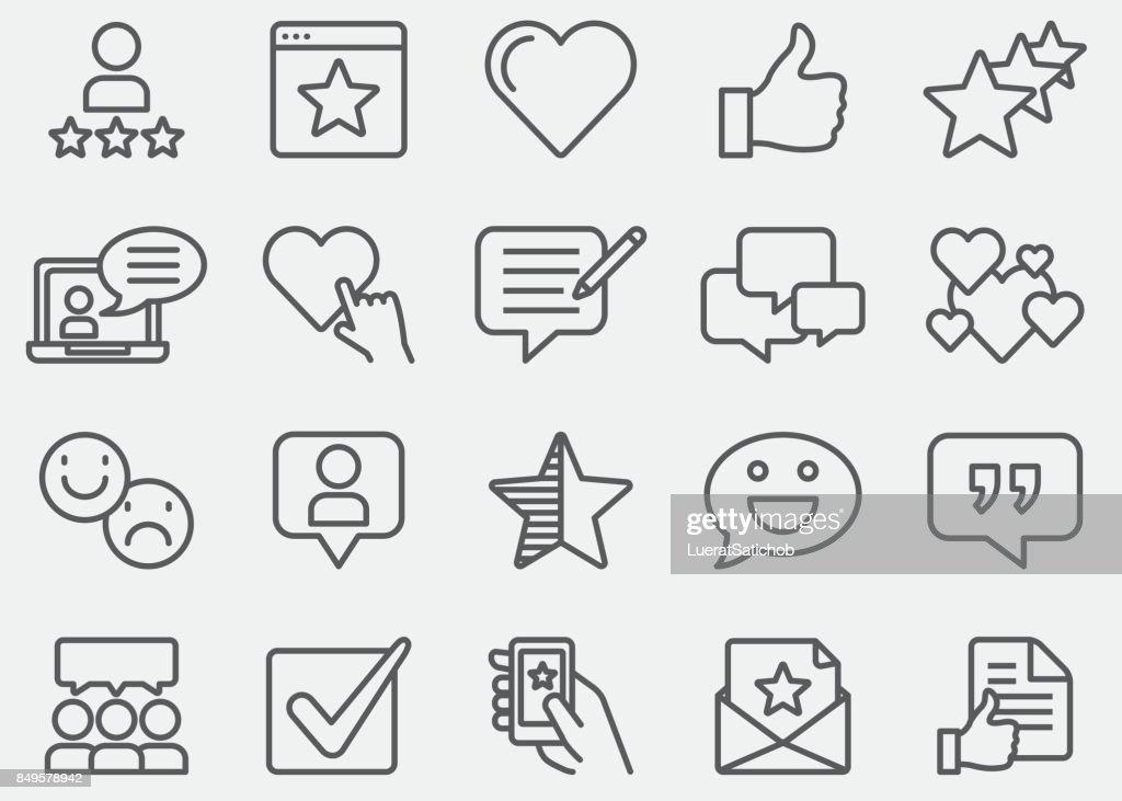 Testimonials And Customer Service Line Icons : stock illustration