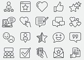 Testimonials And Customer Service Line Icons