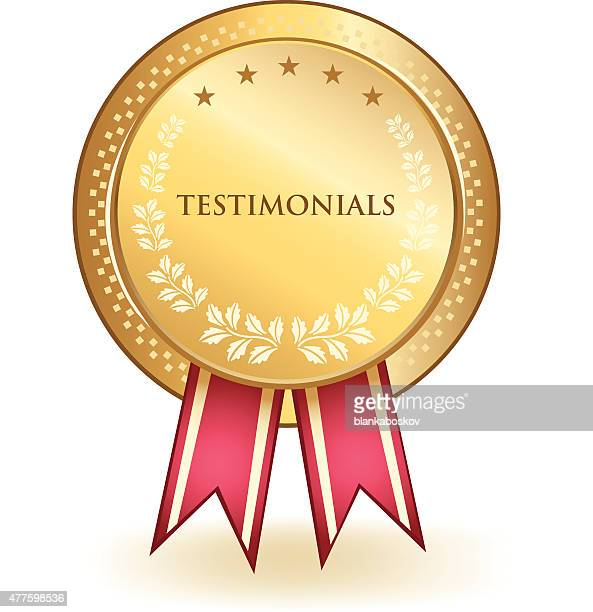 testimonials gold badge - testimonial stock illustrations, clip art, cartoons, & icons
