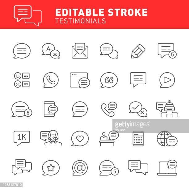 testimonials icons - translation stock illustrations