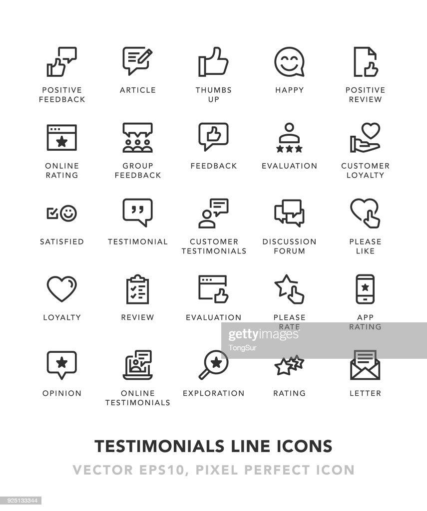 Referenzen-Linie-Icons : Stock-Illustration