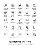 Testimonials Line Icons