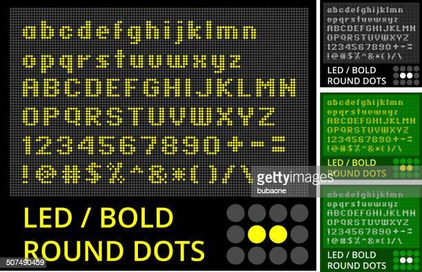 illustrations, cliparts, dessins animés et icônes de test réalisé sur un écran led affichage ensemble - écran numérique
