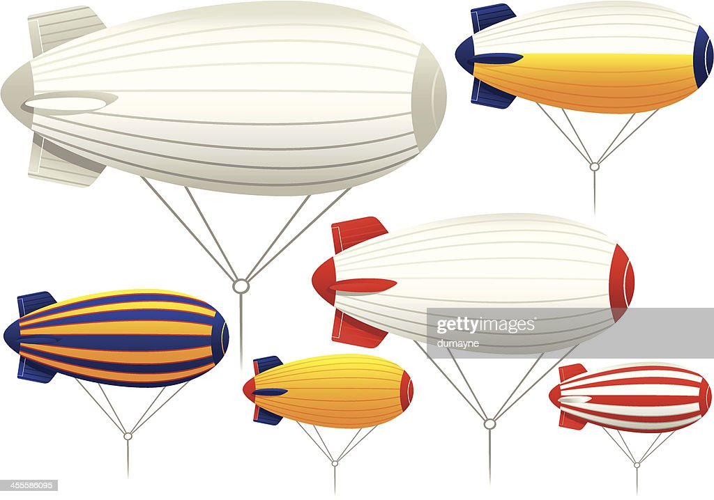 Tethered blimp airships
