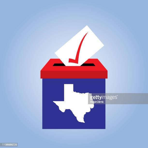 texas ballot box icon - texas stock illustrations