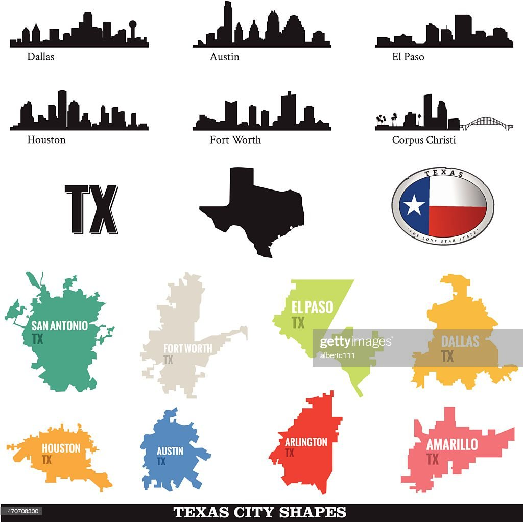 Texas Cityscapes and City shapes
