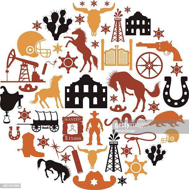 texas collage - texas stock illustrations