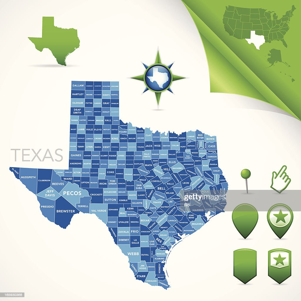 Texas County Map Vector Art Getty Images