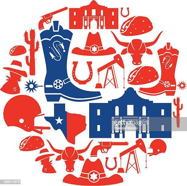 illustrations, cliparts, dessins animés et icônes de icône montage, au texas - texas