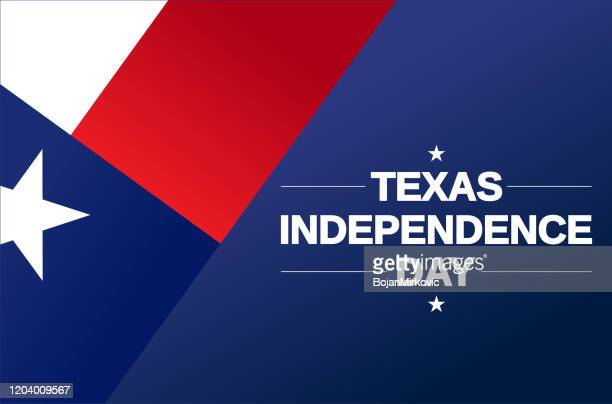 texas independence day card. vector - gulf coast states stock illustrations