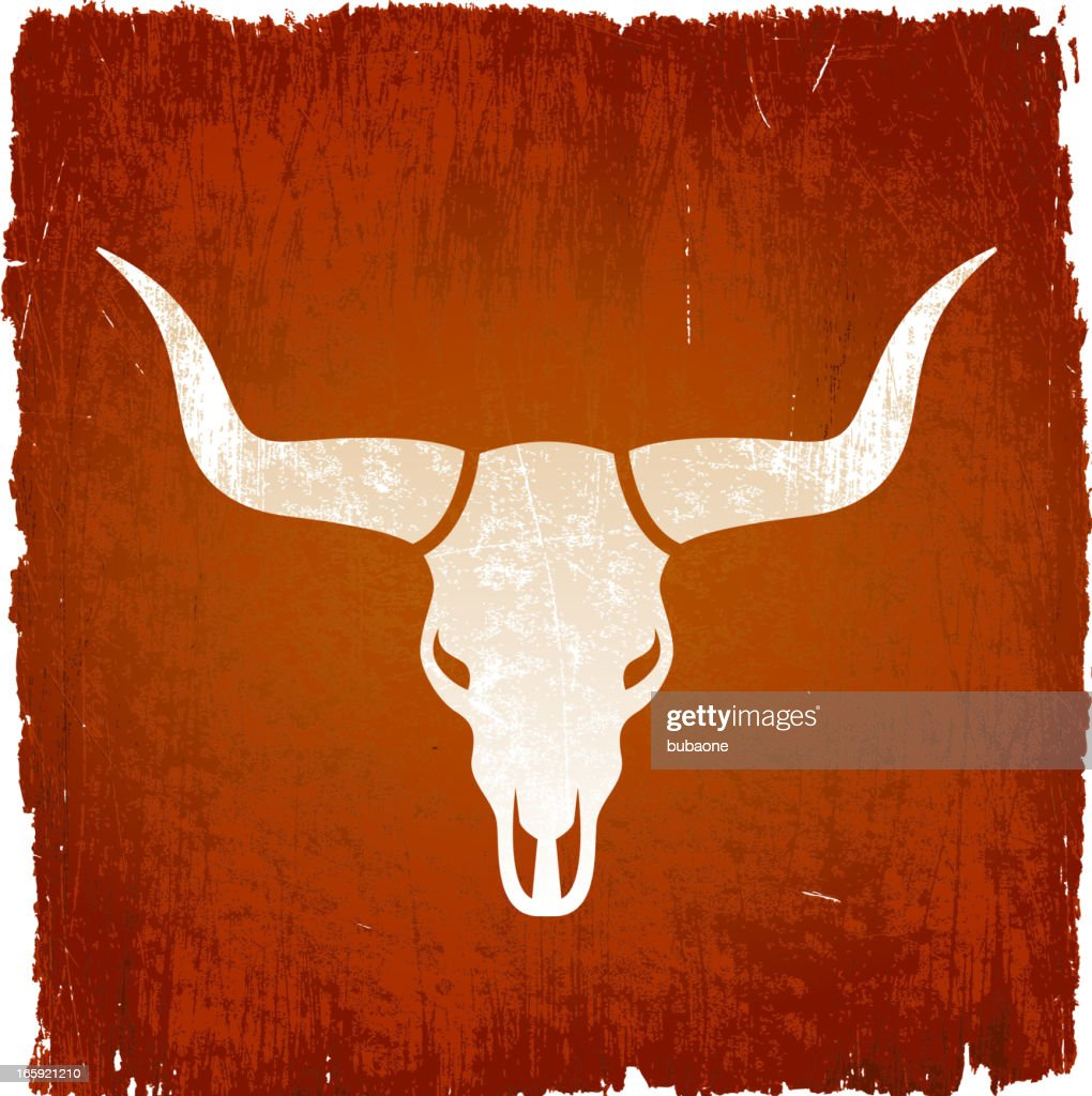 Texas Longhorn bull on royalty free vector Background