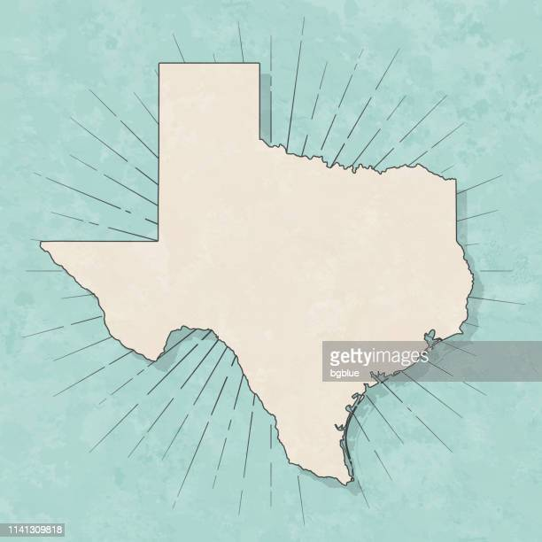 texas map in retro vintage style - old textured paper - texas stock illustrations