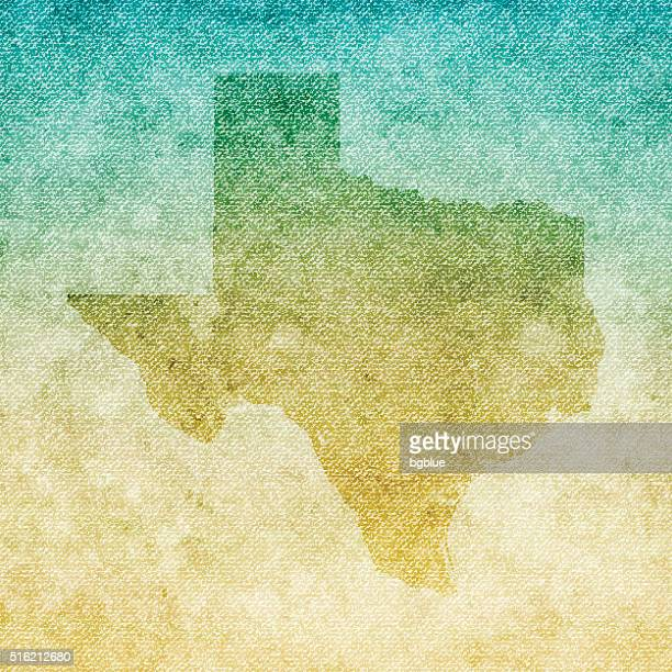 texas map on grunge canvas background - southern usa stock illustrations, clip art, cartoons, & icons