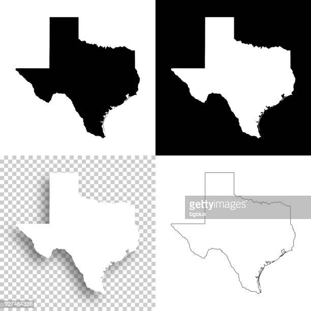 illustrations, cliparts, dessins animés et icônes de cartes du texas pour la conception - blank, fond blanc et noir - texas