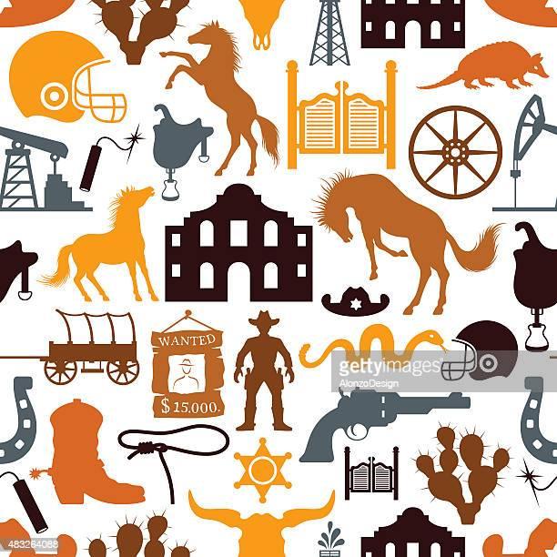 texas pattern - armadillo stock illustrations