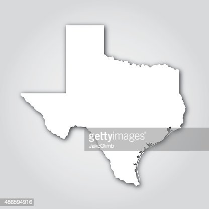 texas silhouette white vector art getty images