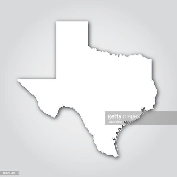 texas silhouette white - texas stock illustrations
