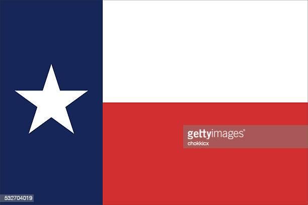 テキサス州旗 - 米メキシコ湾沿岸点のイラスト素材/クリップアート素材/マンガ素材/アイコン素材