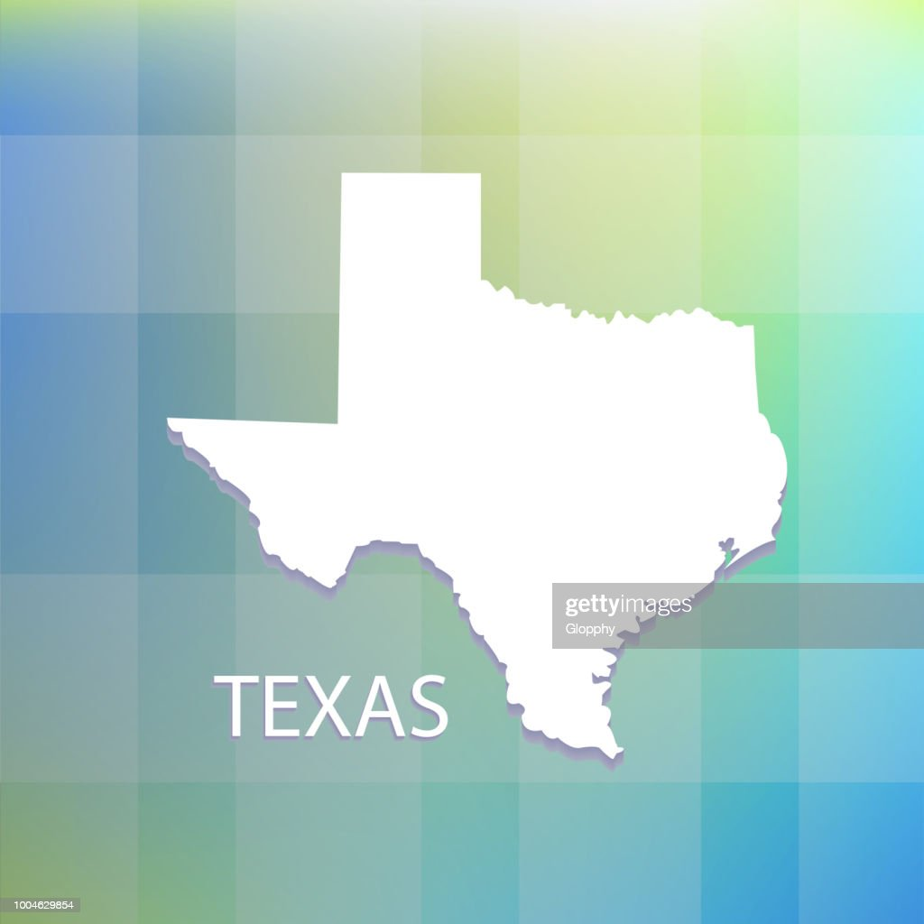 Texas state flat map vector icon