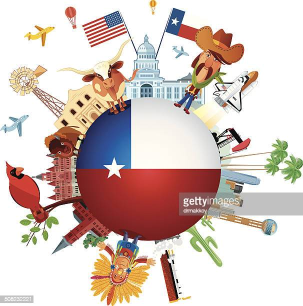 texas travels - san angelo texas stock illustrations
