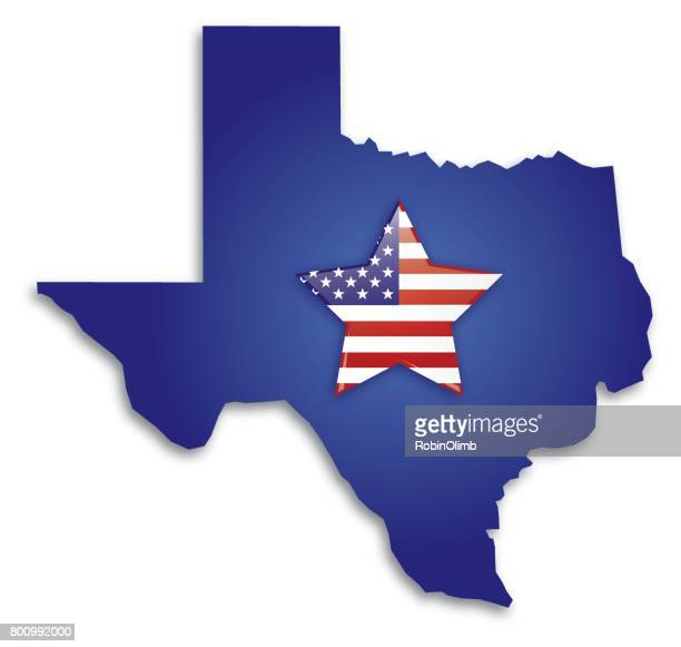 texas usa star flag map - southern usa stock illustrations, clip art, cartoons, & icons