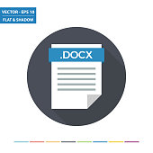 DOCX text document file format flat icon