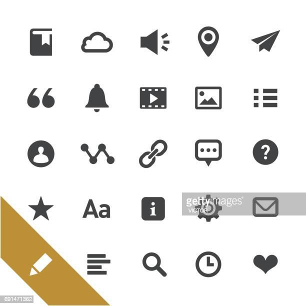 Text editor related Icons - Select Series