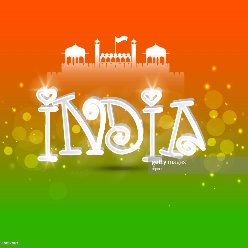 3D text for Indian Republic Day celebration.