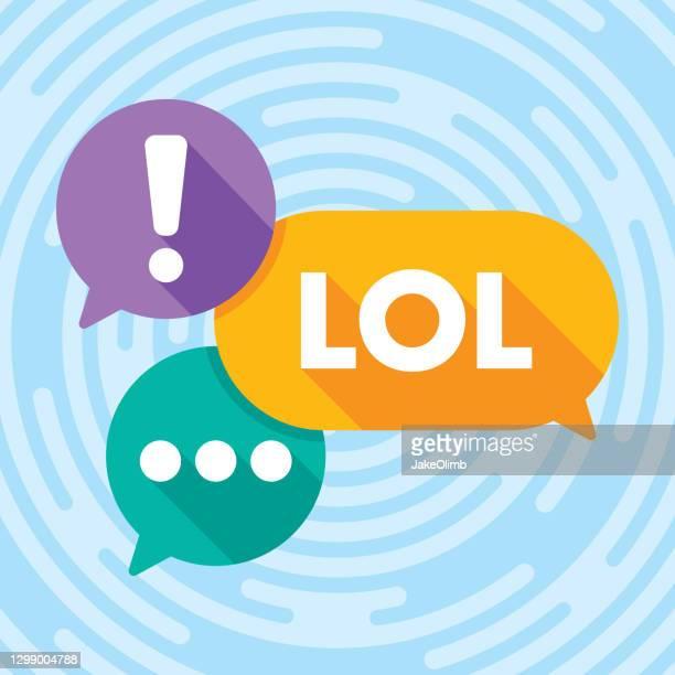 text message speech bubbles flat 1 - meme stock illustrations