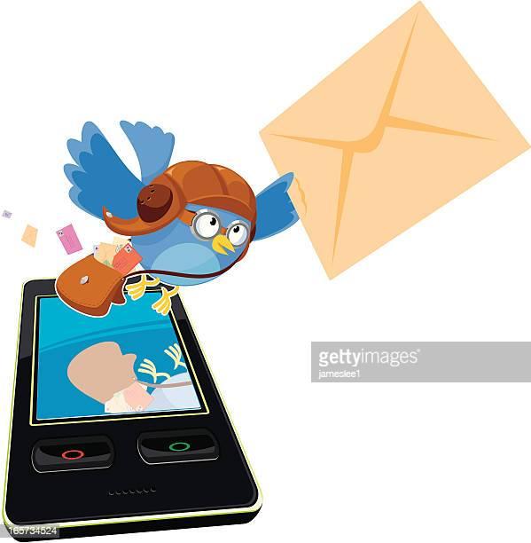 text message - aviator's cap stock illustrations