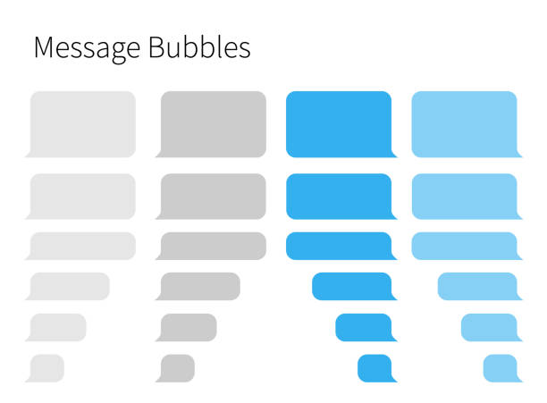 text messaging. smartphone, realistic vector  illustration - bubble stock illustrations