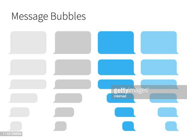 text messaging. smartphone, realistische vektorillustration - text schriftsymbol stock-grafiken, -clipart, -cartoons und -symbole