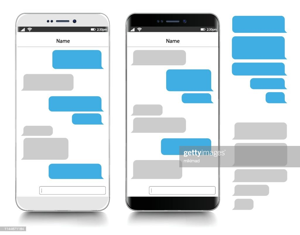 Tekstberichten. Smartphone, realistische vector illustratie : Stockillustraties