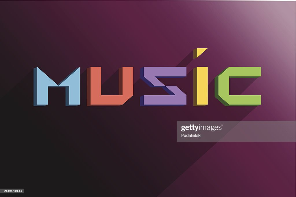 Text music background : Vektorgrafik