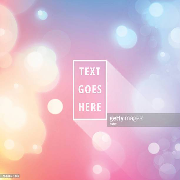 Text Space Frame Light Flare Bokeh Vector Stock Background