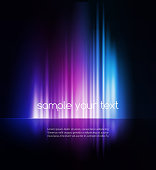 A text template with purple and blue abstract lights