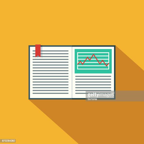textbook flat design science & technology icon with side shadow - bookmark stock illustrations, clip art, cartoons, & icons