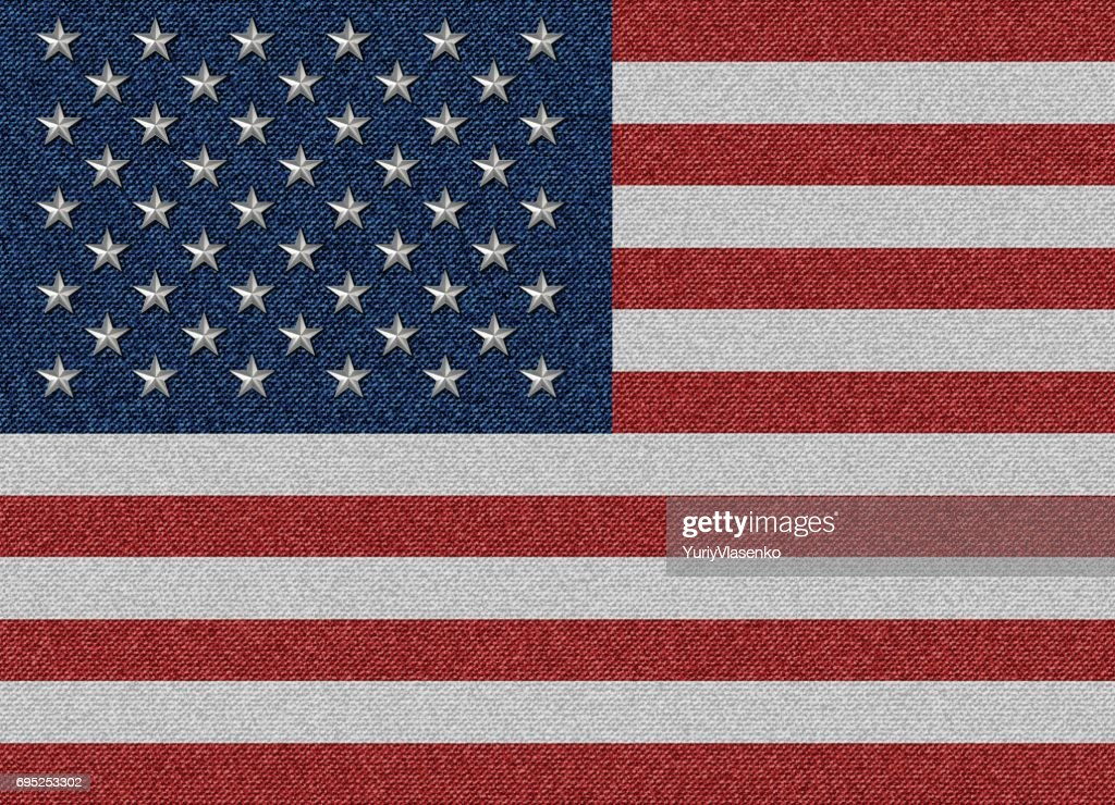 textile USA flag illustration