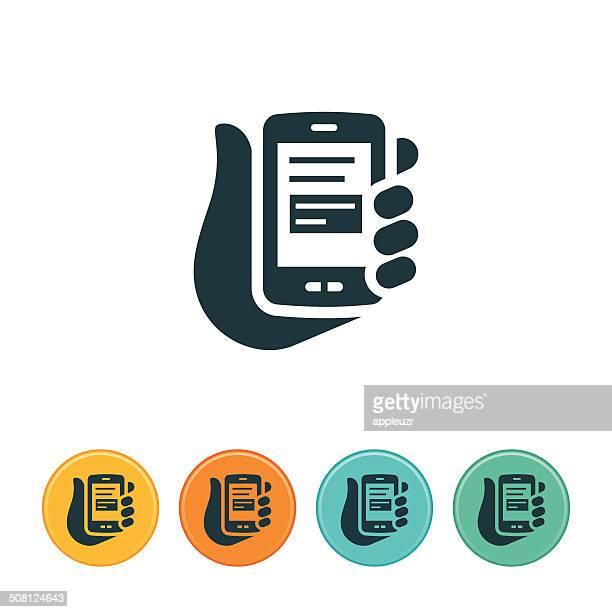 Texting on Smartphone Icon