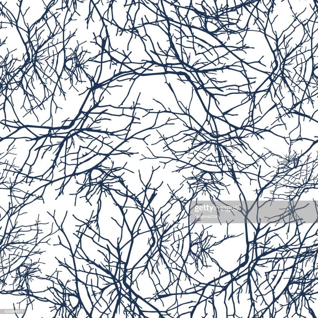 Texture branches seamless pattern