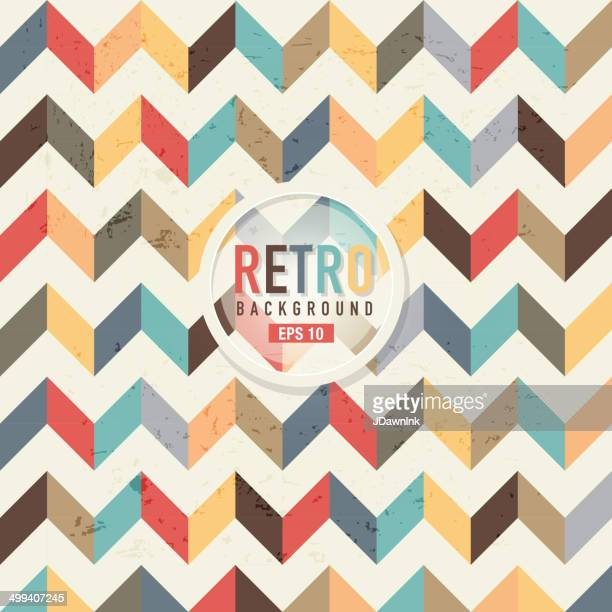 textured and colorful retro chevron pattern background - quilt stock illustrations, clip art, cartoons, & icons
