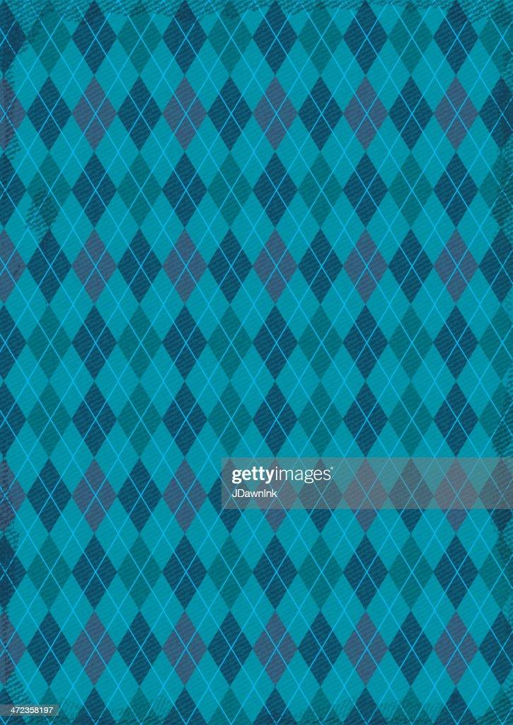 Textured argyle pattern background