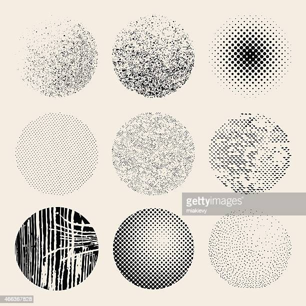 textured effects circles - half tone stock illustrations