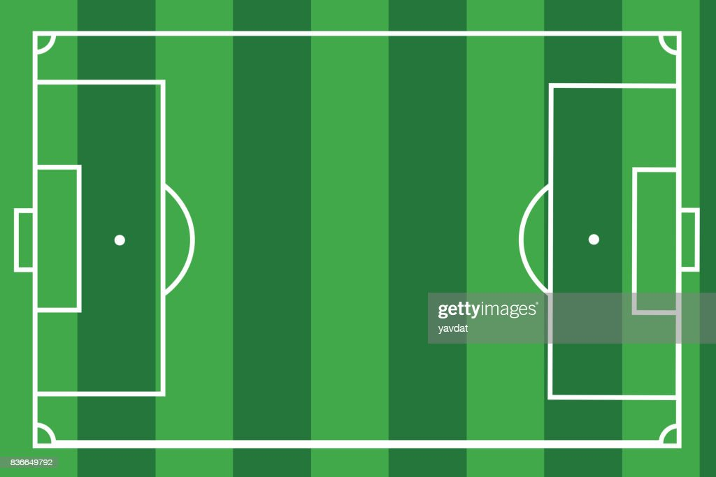 textured grass football Vector illustration. Green soccer field, stadium place for text
