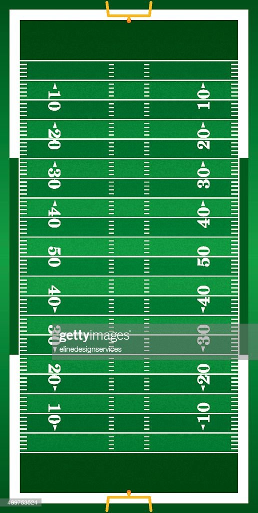 Textured Grass Vertical American Football Field