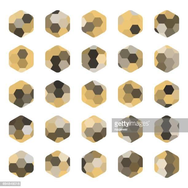 六角形パターンのアイコンをコレクションのテクスチャ