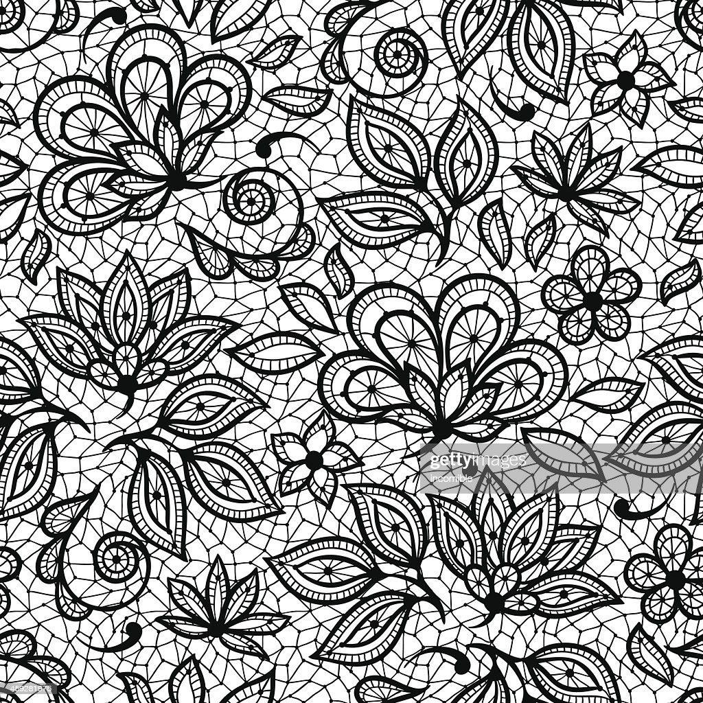 Textured imaging patterned with old lace, ornamental flowers